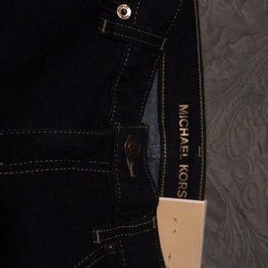 Michaels Kors dark wash Izzy skinny jeans NWT sz 4